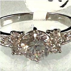 Ladies Yellow Gold Plated Heart Shaped Amethyst CZ  Halo Ring Size 5-9