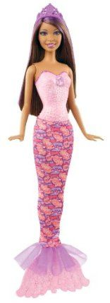 Barbie Mermaid Nikki Doll by Mattel. $11.99. Mix and match her tail and fins with other Barbie Fairytale Magic dolls. Dressed in a glittery bodice, princess tiara and color hair streaks. Discover the Barbie Fairytale Magic with this beautiful mermaid doll. Makes the perfect gift any girl will love. Features a removable tail to make the transformation from human to mermaid. From the Manufacturer Barbie Mermaid Nikki Doll: Discover the Barbie Fairytale Magic wi...