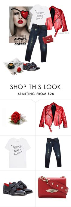 """""""Artists never sleep"""" by vespagirl ❤ liked on Polyvore featuring Dolce&Gabbana, Ganni, RED Valentino, Avon and CoffeeDate"""