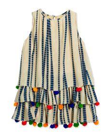 Neiman Marcus - Hemant and Nandita Sleeveless Silk Chiffon Dress, Multicolor, Size Diy Kleidung, Indian Designer Wear, Silk Chiffon, Chiffon Dresses, Chiffon Tops, Kids Wear, Blouse Designs, Baby Dress, Designer Dresses