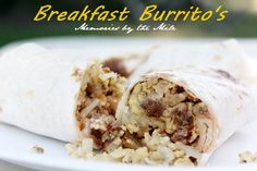When we go camping David's Dutch Oven Breakfast Burritos are a must. Even our grandkids love them. A good, hearty breakfast is a good start to a good day.