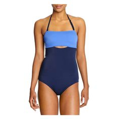 Colour Block One Piece Swimsuit in Light Blue from Joe Fresh