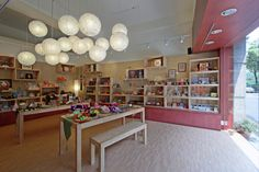 CAN WE HANG LANTERNS OR SOME OTHER TYPE OF LIGHT?   Chinese gift shop by KC design