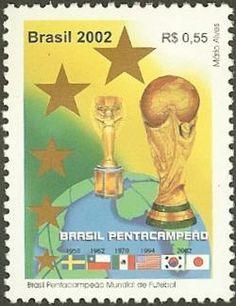 Postage stamp - Brasil Fútbol