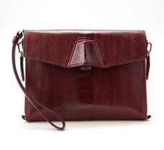 Alexander Wang Maroon Leather Clutch