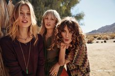 Models wears bohemian inspired looks for Vero Moda's spring 2016 campaign