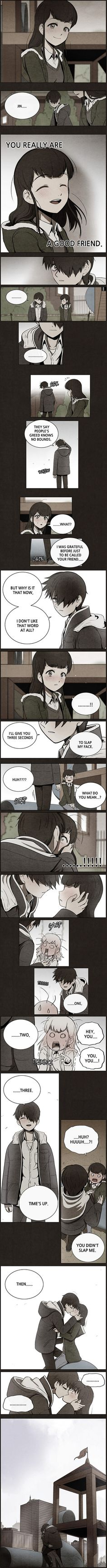 This scene is from my favorite web comic, Bastard! It's an amazing story, you can check it out on the app, Webtoon!! I highly recommend it!! ✨✨✨