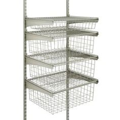 H Drawer Kit With 4 Wire Baskets | Wire Basket, Drawers And Organizations