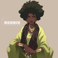 Mother by David Dennis Black Cartoon Characters, Black Girl Cartoon, Dope Cartoon Art, Black Girl Art, Black Women Art, Art Girl, Fantasy Characters, Black Girls, Black Art Pictures