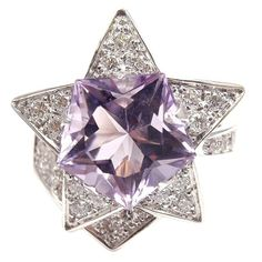 CHANEL Comet 18k diamonds, amethyst ring.France 2oth Cenrury