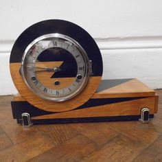 A very stylish Art Deco Clock circa 1937. Description from traversantiques.com. I searched for this on bing.com/images