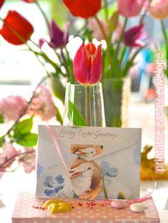 Free printable loving easter greetings envelope - ausdruckbares Osterkuvert - freebie   MeinLilaPark – digital freebies