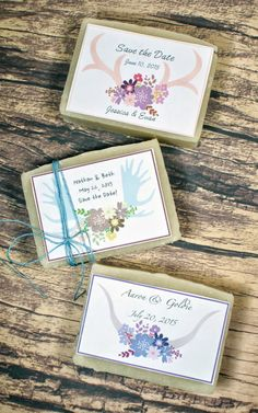 Learn how to make DIY wedding soap favors. Two variations of a mango & coconut milk homemade soap recipe to choose from based on your budget and a tutorial on creating your own custom soap labels.