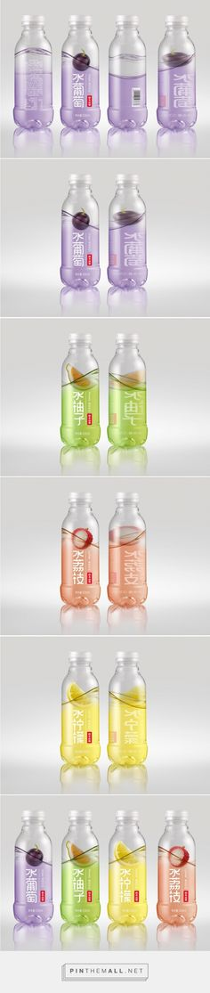 Nongfu Spring Flavored Water — The Dieline - Branding & Packaging. - a grouped images picture Water Packaging, Juice Packaging, Cool Packaging, Food Packaging Design, Beverage Packaging, Bottle Packaging, Packaging Design Inspiration, Brand Packaging, Branding Design