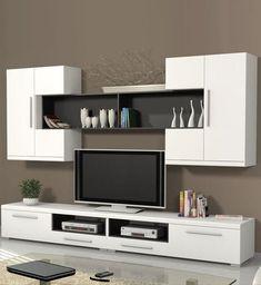 Home & Living Modern Tv Cabinet, Tv Cabinet Design, Modern Tv Wall Units, Tv Wall Design, House Design, Living Room Wall Units, Living Room Tv Unit Designs, Tv Unit Decor, Tv Wall Decor