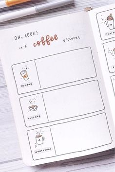 Coffee Themed Bullet Journal Spreads For 2020 - Crazy Laura - - Looking to a new theme idea to try out this month? Check out these awesome coffee bullet journal spreads for inspiration to make your layouts perfect! Bullet Journal School, Bullet Journal Inspo, Bullet Journal Spreads, December Bullet Journal, Bullet Journal Lettering Ideas, Bullet Journal Aesthetic, Bullet Journal Writing, Bullet Journal Layout, Bullet Journal Ideas Pages