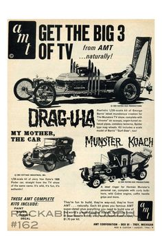 New Hot Rod Poster 11x17 Barris Dragula Car Munster Coach