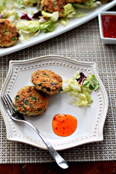 Tofu Vegetable Patties that are healthy with a crunch from the veggies and great as an appetizer!