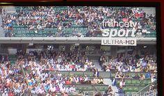 #RolandGarros2015 en #UltraHD sur la #TNT (canal 81) et #Fransat (canal 444)... Avouons que sur un TV UHD #Panasonic de 215cm de diagonale, c'est plutôt impressionnant !!!