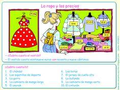 Me encanta escribir en español: La ropa y los precios (el verbo costar)