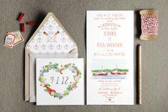 Swiss Cottage Design - Wedding Invitations