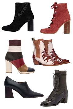 Senso Sara Heeled Ankle Boots, $302; asos.com Topshop Magpie Ghillie Ankle Boots, $160; topshop.com Valentino Multicolor Leather Booties, $1,375; fwrd.com Sartore Western Boots, €339; sartore.fr Zara Leather Ankle Boot Style Shoes, $119; zara.com Laurence Decade Inde Lace-Up Leather Ankle Boot, $1,325; neimanmarcus.com   - ELLE.com