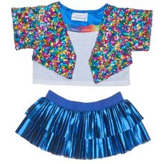 Rainbow Sequin Jacket & Skirt Outfit 2 pc. | Build-A-Bear Workshop