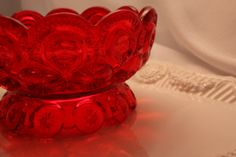 This SCREAMS Christmas! Vintage Fenton Ruby Red Bowl by VintagebyViola on Etsy, $40.00