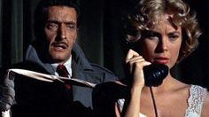 """La llamada fatal"" (""Dial M for Murder"", 1954). Dir.  Alfred Hitchcock. Stars: Ray Milland, Grace Kelly, Robert Cummings."