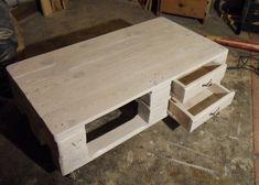 Paletten-Couchtisch mit verbesserter Schubladenführung, alternative Bauweise :)