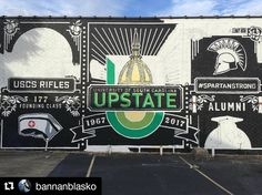 #Repost @bannanblasko  Our Upstate mural on Main St. is coming along - drive by and check it out. Progress will continue slowly but surely over the next two weeks tag us in your pictures of the process so we can see our work through your eyes!  #spartanstrong #bannanblasko #upstateturns50 #upstatesc #Spartanburg #Greenvillesc #yeahthatGreenville #yeahthatspartanburg #hubcity #sparklecity #lovewhereyoulive #spartanburgrocks #spartanburgontherise #theburg #sc #southcarolina #igersgreenville…
