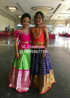 Kids collection Kids Dress Wear, Kids Gown, Dresses Kids Girl, Party Wear Dresses, Kids Outfits, Baby Dress, Lehenga Designs, Half Saree Designs, Kids Indian Wear