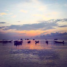 sunset koh tao thailand sairee beach