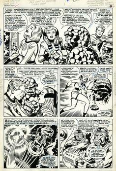 Fantastic Four #62, pg. 6, inks by Joe Sinnott