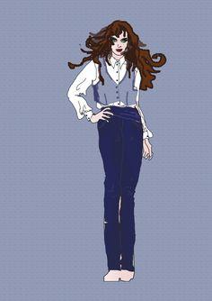 Jeansmode-Design