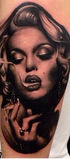 Marilyn Monroe Face Silhouette Tattoo Marilyn monroe tattoo