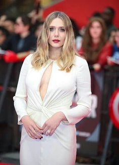 Elizabeth Olsen at the European Premiere of Captain America Civil War April 26, 2016