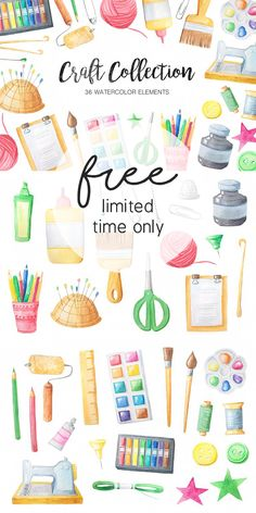 Free Watercolor Craft Collection