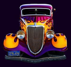 Visit The MACHINE Shop Café... ❤ Best of Hot Rod @ MACHINE ❤ (Classic Flamed 1934 Ford Coupé)