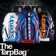 Each season we dig into our collection updating our #SuperdryClassic products, this season we've upgraded our tarp backpack with new cali stripe detail.