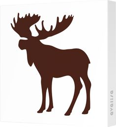 Found it at AllModern - Avalisa Silhouette - Moose Stretched Wall Art Moose Silhouette, Silhouette Clip Art, Animal Silhouette, Silhouette Portrait, Silhouette Machine, Moose Pictures, Pictures To Paint, Moose Tattoo, Woodworking Patterns
