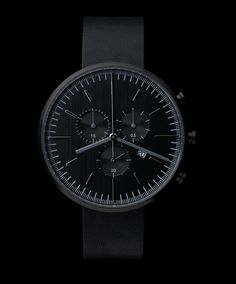 302 SERIES (PVD Black / Black Leather) | Uniform Wares This has gotta be my favourite!