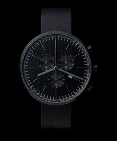 302 SERIES (PVD Black / Black Leather) | Uniform Wares