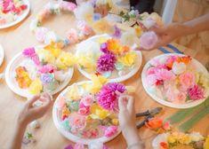 簡単可愛くDIY♡花嫁さんの為の花冠の作り方講座*
