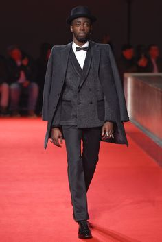 Suddenly, Junya Watanabe is the go-to resource for alternative formalwear. [Photo by Giovanni Giannoni]