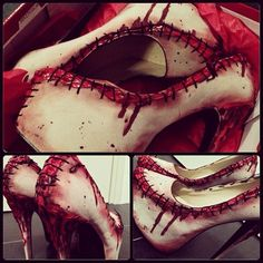 gothiccharmschool:  she-is-happy-because0f-prozac:  Oh my god these are gruesome!  I … I kind of covet these. I wouldn't be able to walk in ...