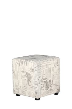 so love this its fashionable Cube, Ottoman, Chair, Floral, Prints, Furniture, Home Decor, Decoration Home, Room Decor