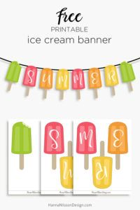 Summer banner | printable summer banner for your home or party decor this season |