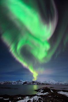 Aurora over Tussøya (by Garcia Foto)