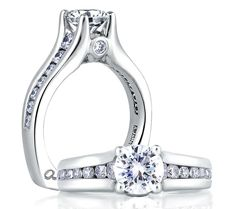 Cathedral Diamond Setting.